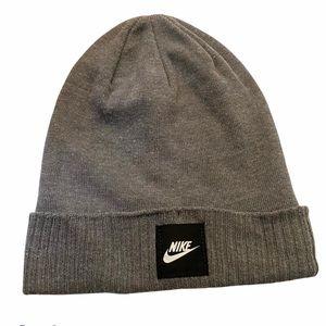 Nike gray knit hat winter one size